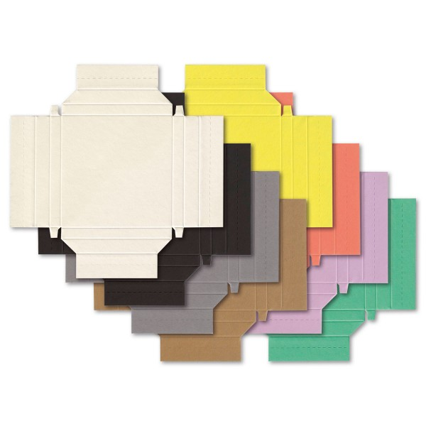 Little Paper Frames 9x9cm 48 St./8 Farben Quadrat kleine Bilderrahmen, Karton, Ausschnitt 6,8x6,8cm