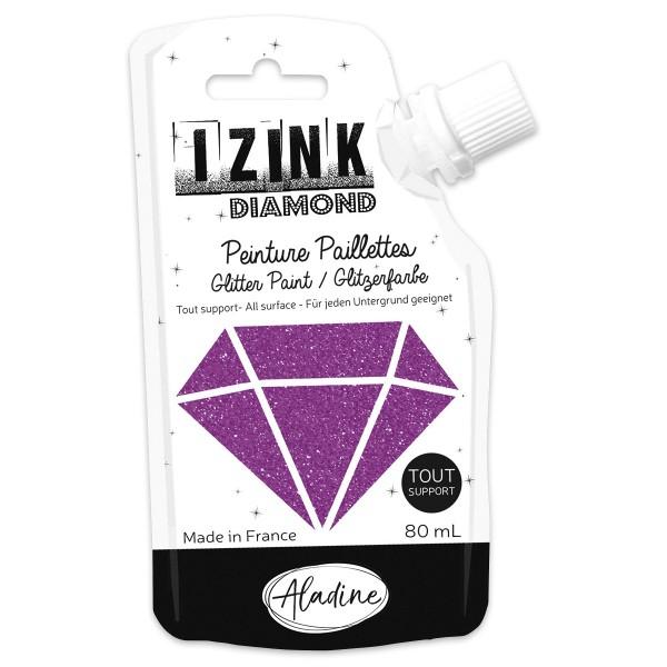 IZINK Diamond Glitzerfarbe 80ml violet/violett im Dosierbeutel