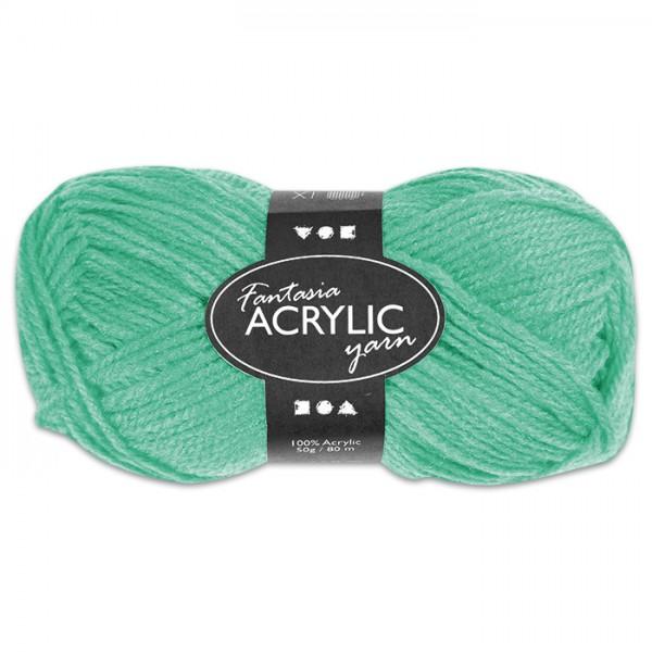 Fantasia Acryl-Wolle 50g mintgrün 100% Polyacryl, für Nadel Nr. 4
