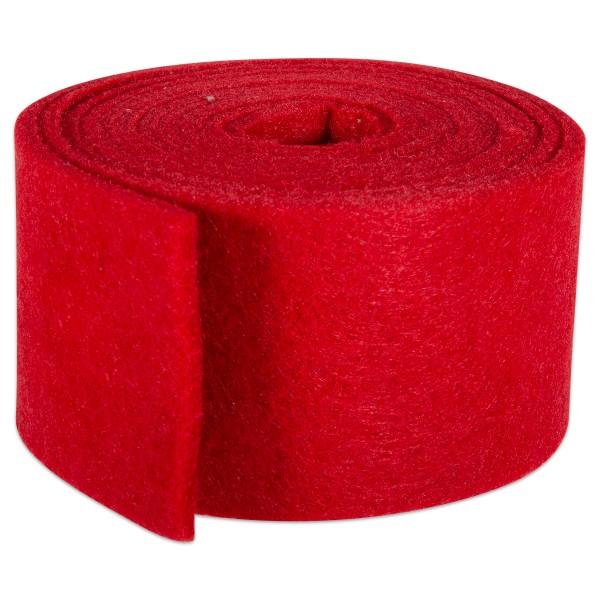 Filzband 3mm 4x150cm rot meliert 100% Polyester