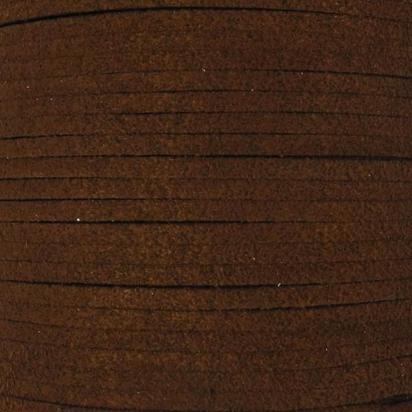 Veloursband textil 1,5 stark 3mm breit 5m dunkelbraun 100% Polyester