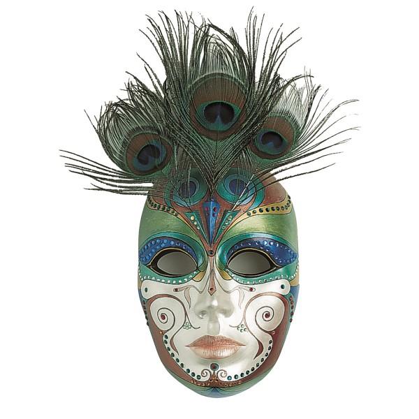 Gießform Maske Venedig 2-teilig Kunststoff, 15x22cm