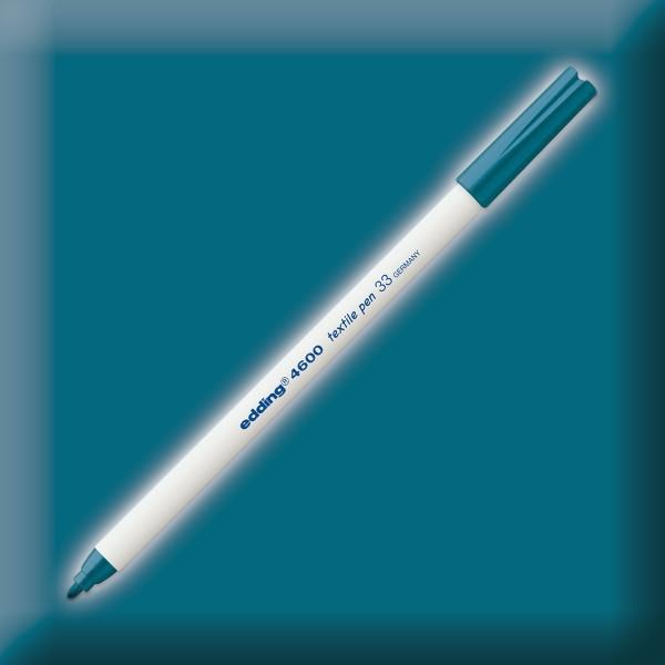 edding 4600 Textilstift orientblau Strichbreite 1mm