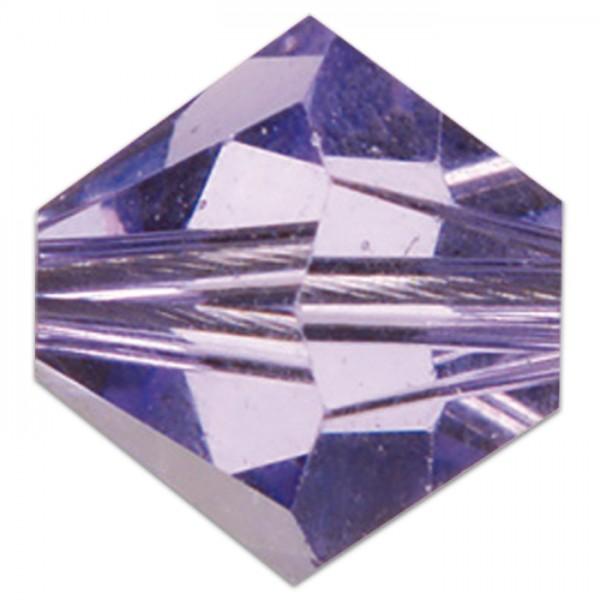 Glasschliffperle 4mm 25 St. tanzanit Swarovski, Lochgr. ca. 0,9mm
