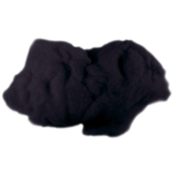 Krempelwolle max. 27mic 100g schwarz 100% Wolle von neuseeländischen Schafen