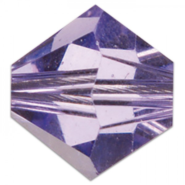 Glasschliffperle 4mm 100 St. tanzanite Swarovski, Lochgr. ca. 0,9mm