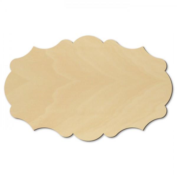 Türschild Barock Holz 4mm 29x18cm natur
