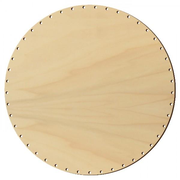 Korbflechtboden Holz 6mm Ø40cm rund natur 57 Bohrungen 3mm
