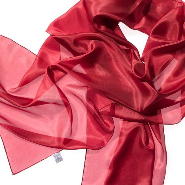 Schal Seide Pongé 05 180x45cm rot 100% Seide