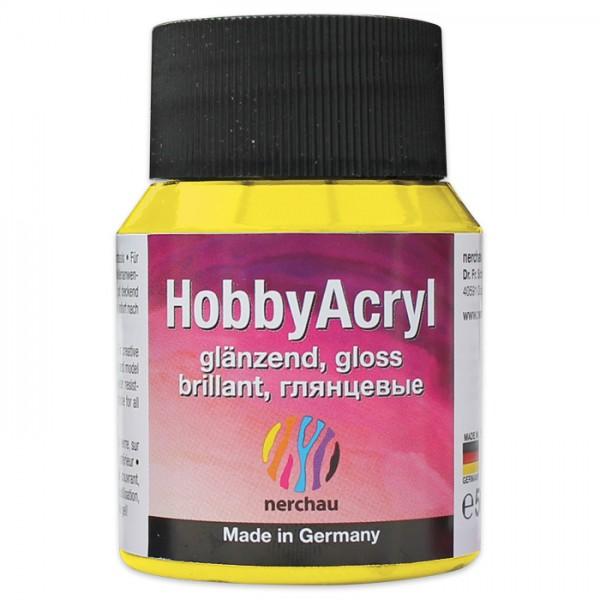 Hobby Acryl glänzend 59ml zitrone Acrylfarbe