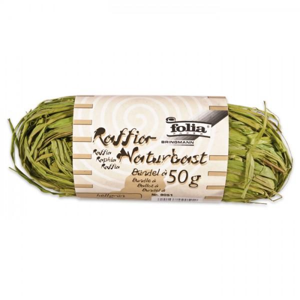 Naturbast Bündel 50g hellgrün