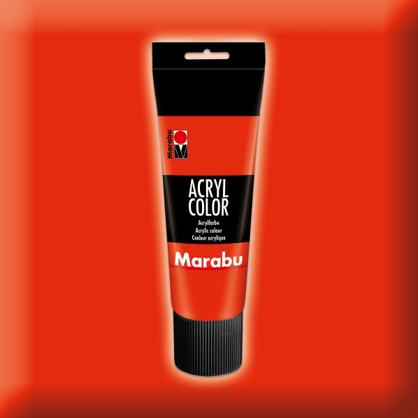 Marabu Acryl Color 225ml zinnoberrot