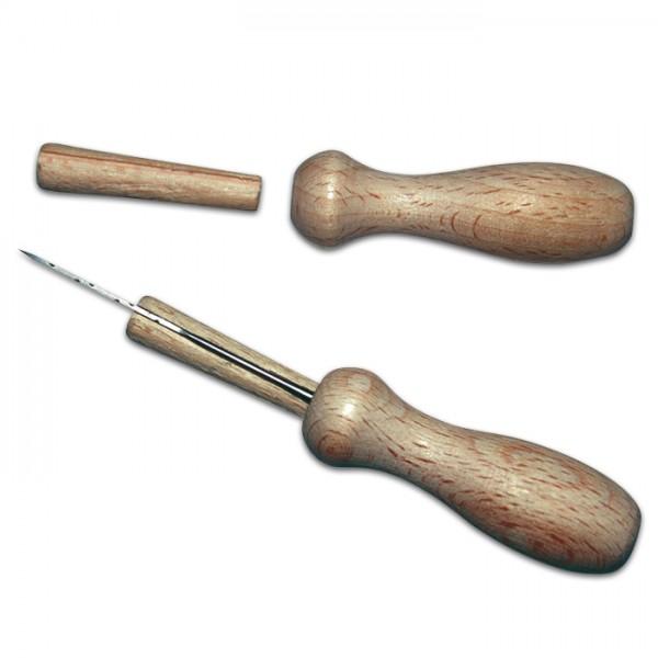 Filznadelgriff für 1 Nadel Holz 19x15x66mm