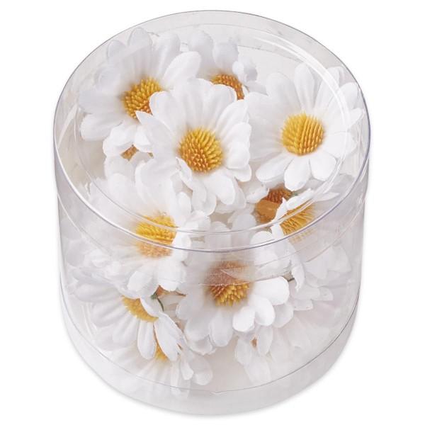 Margeritenblüten ca. 3cm 25 St. weiß