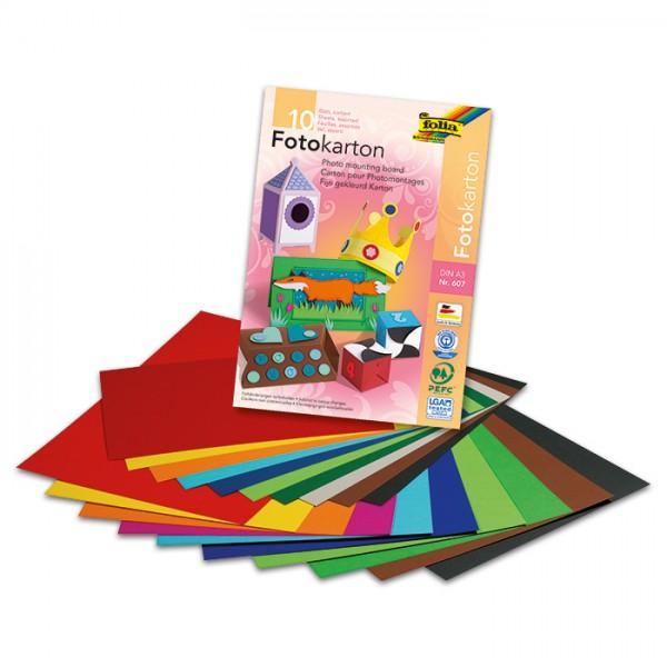 Fotokartonblock 300g/m² DIN A3 10 Bl./Farben