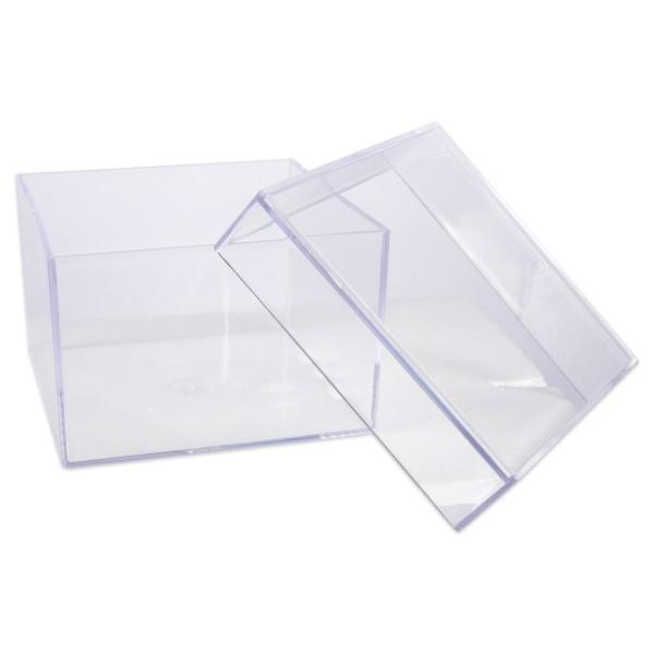 Dose Kunststoff glasklar 75x75x50mm
