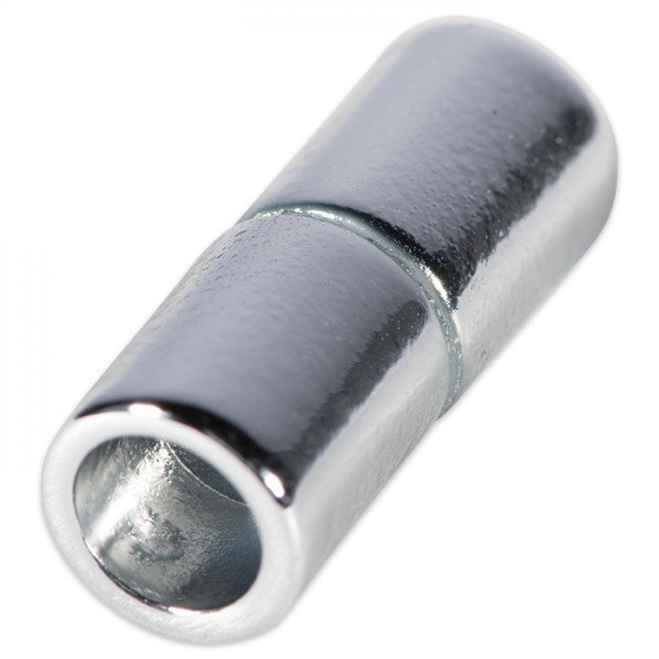 Power-Magnetverschluss z. Kleben 21x10,5mm platinf Innendurchmesser 8mm, Metall/Kunststoff
