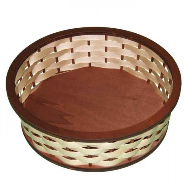Korbflecht-Set groß Holz ca. 24x7cm rund natur ohne Flechtband