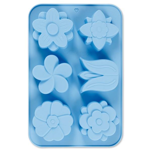 3D-Silikonform Blumen 6 Motive, ca. 60x75mm, 75ml