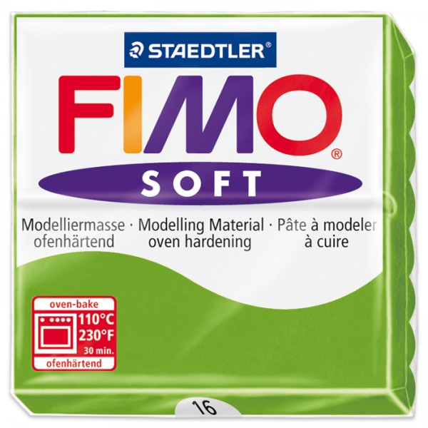 FIMO soft 55x55x15mm 57g apfelgrün ofenhärtende Modelliermasse