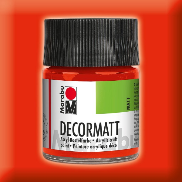 Decorlack Acryl matt 50ml zinnoberrot
