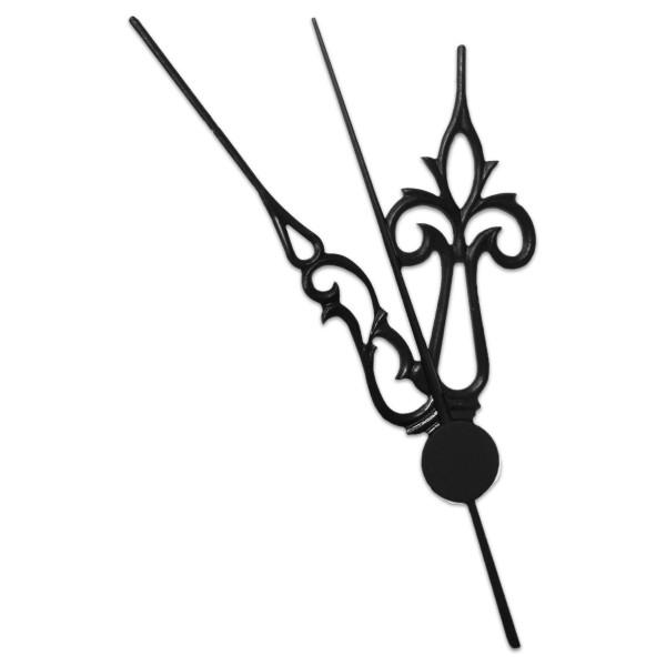 Uhrzeiger Kunststoff 50/70mm schwarz Klassik mit Sekundenzeiger