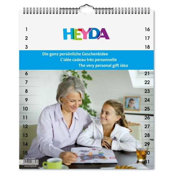 Kreativkalender 170g/m² 29,7x35cm 13 Bl. weiß
