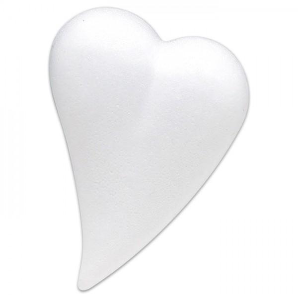 Styropor-Herztropfen flach weiß 12cm