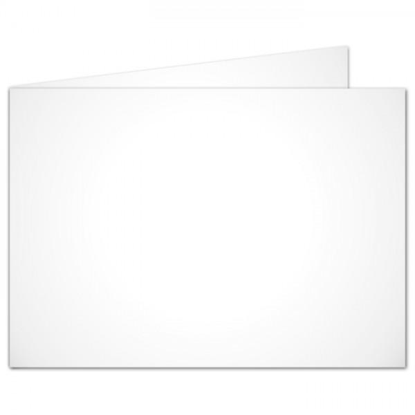 Brief- & Bastelkarten DIN A6 100 St. weiß doppelt quer 190g/m², ohne Kuverts