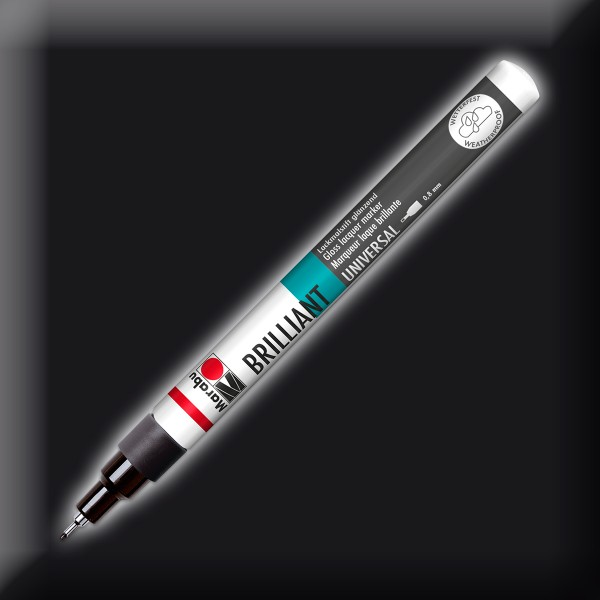 Brillant-Painter Finelinerspitze 0,8mm schwarz Lackmalstift