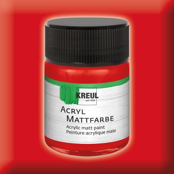 KREUL Acryl-Mattfarbe 50ml dunkelrot