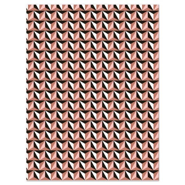 Decoupagepapier Rauten kupferf./schwarz/weiß von Décopatch, 30x40cm, 20g/m²
