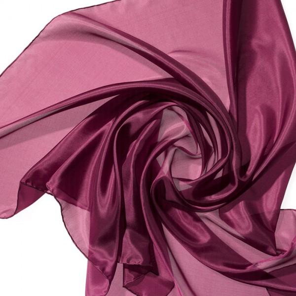 Nickituch Seide Pongé 05 55x55cm purpur 100% Seide