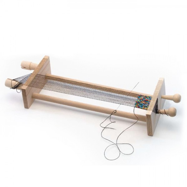 Perlenwebrahmen Holz 10cm breit