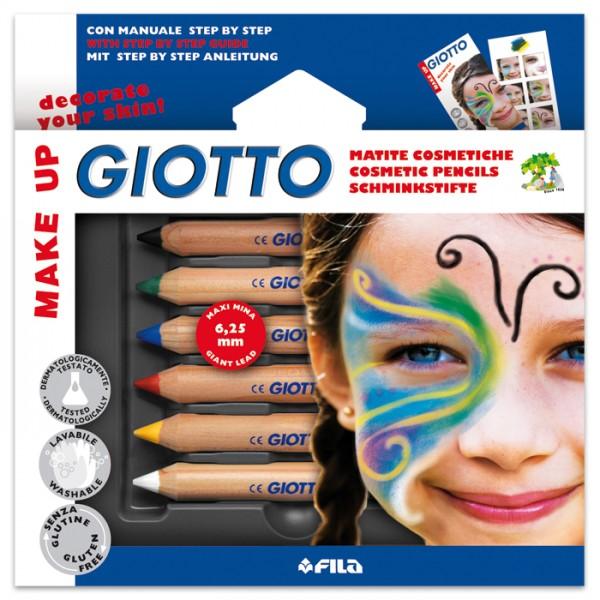 Giotto Make-up Schminkstifte Basic 6 Farben Mine 6,25mm