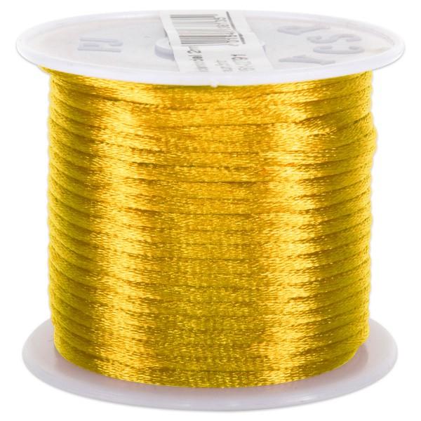 Seidenschnur glänzend 2mm 5m goldfarben 100% Polyester