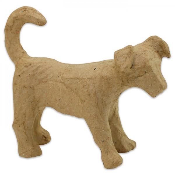 Hund Pappmaché 11x3,5x8,5cm Größe XS, von Décopatch