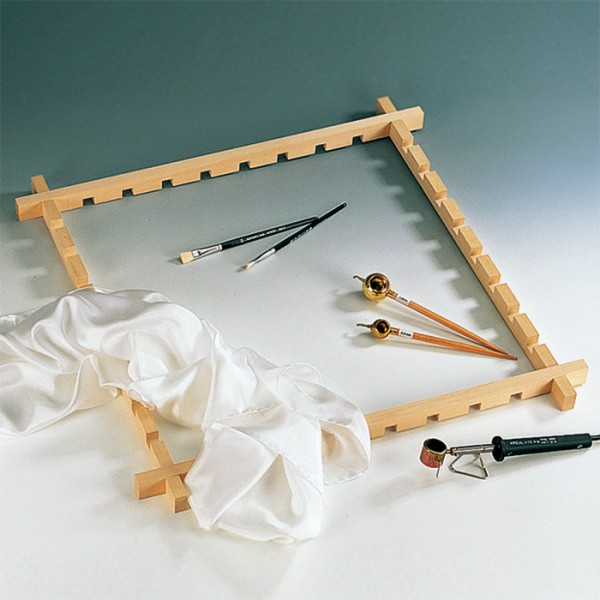 Batikrahmen/Seidenmalrahmen 100x100cm Holz, für Tücher bis 90x90cm