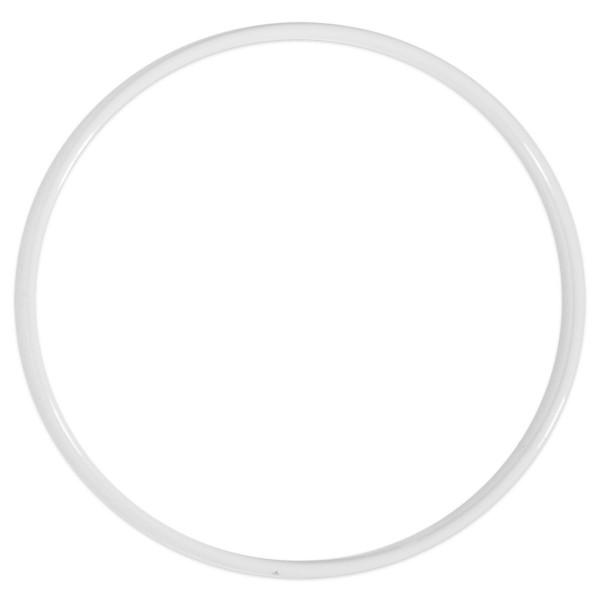 Metallring/Drahtring rund weiß 3mm Ø 10cm