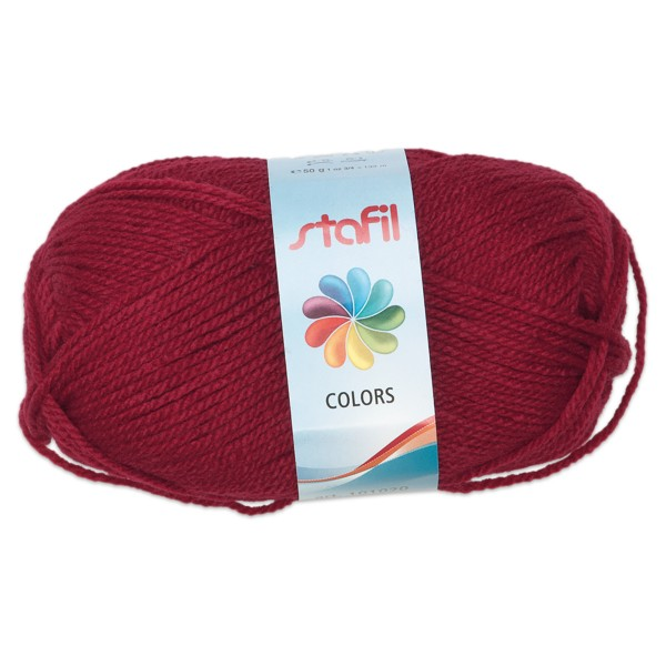 Wolle Colors 50g bordeaux LL ca.133m, Nadel Nr. 3, 100% Polyacryl
