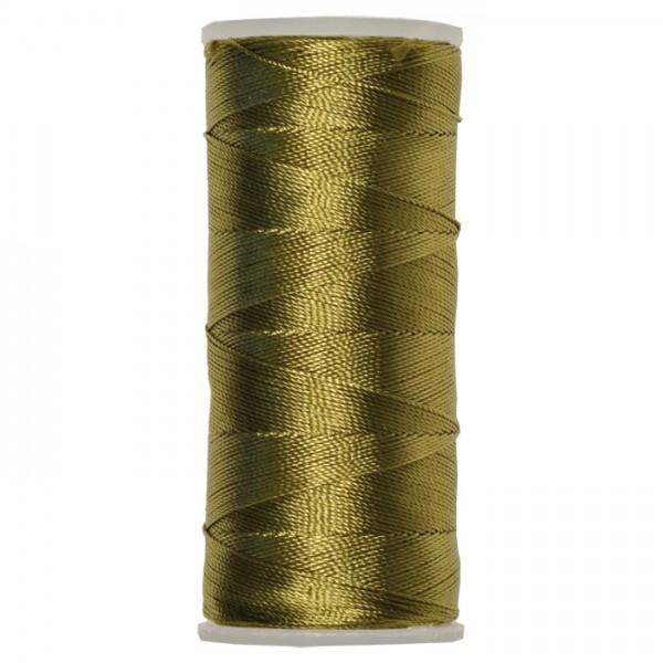 Nylongarn 0,35mm 25g ca. 300m oliv zum Häkeln und Fädeln, 100% Nylon