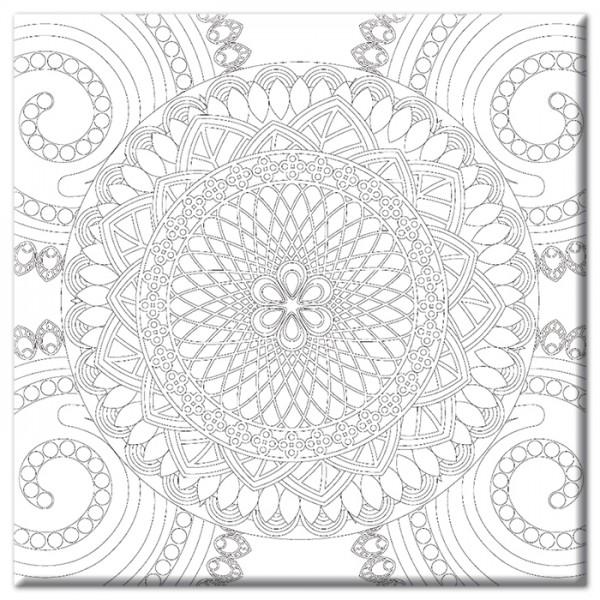 bedruckter Keilrahmen 30x30x2cm Mandala