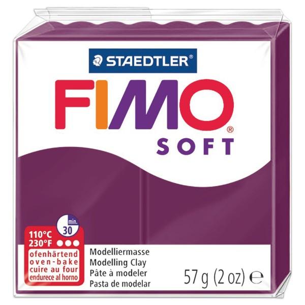 FIMO soft 55x55x15mm 57g royal violett ofenhärtende Modelliermasse