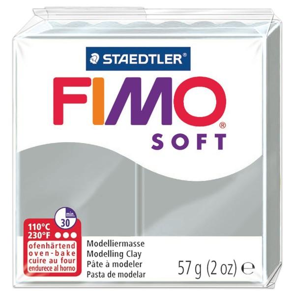 FIMO soft 55x55x15mm 57g delphingrau ofenhärtende Modelliermasse