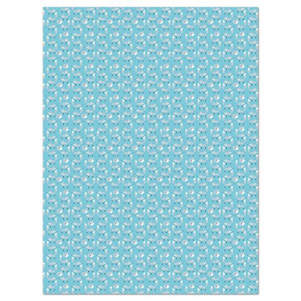 Decoupagepapier Füchse gletscherblau/silberfarben von Décopatch, 30x40cm, 20g/m²