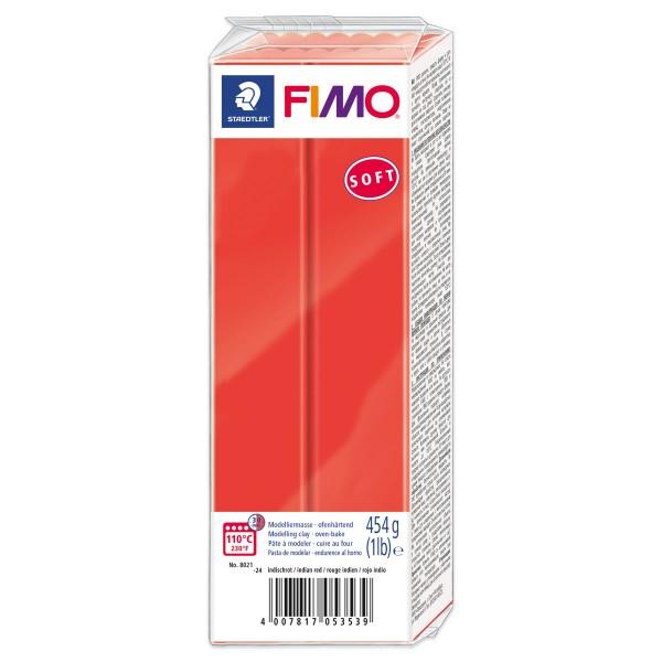 FIMO soft Großblock 454g indischrot ofenhärtende Modelliermasse