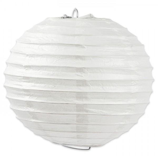 Papierlampion rund Ø 20cm weiß