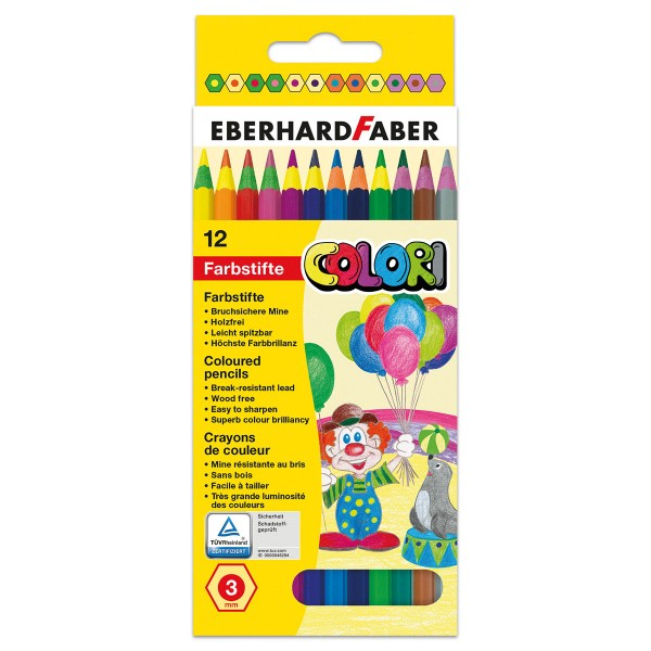 Eberhard Faber Buntstifte Colori Mine 3mm 12 Farbstifte