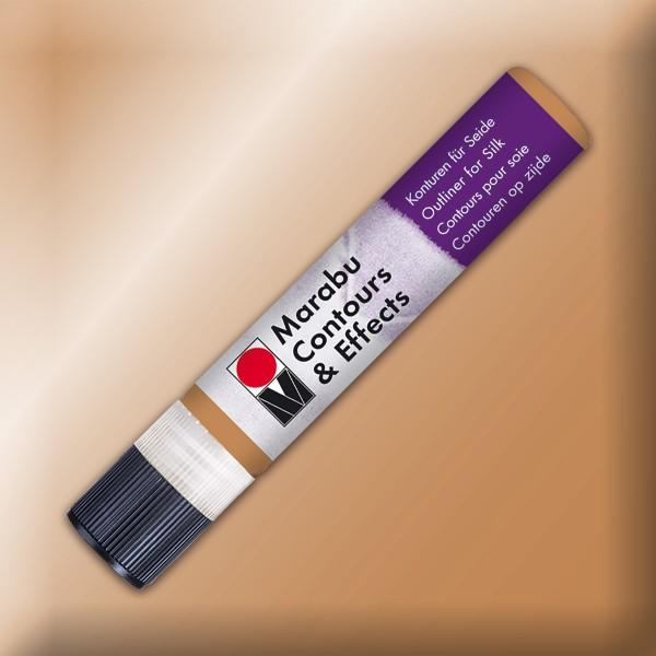 Contours & Effects 25ml metallic-kupfer Konturenfarbe für Seide