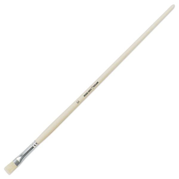 Borstenpinsel langer Stiel 10,3mm Gr. 10 Schweineborste